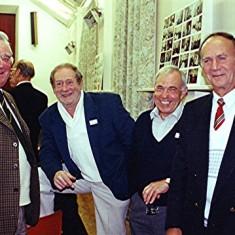 Left to right: Harry Hobbs, Brian Cowland, Maurice Webb, Aubrey Coates | Geoff Webb