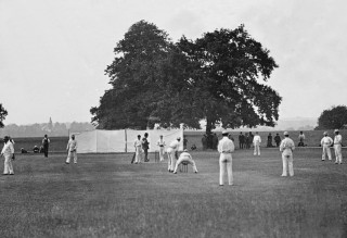 Cricket at Balls Park (now Hertford c.c. ground) | Hertfordshire Archives and Local Studies