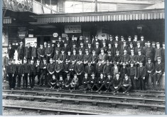Official Portrait of Hitchin Station Staff 1906