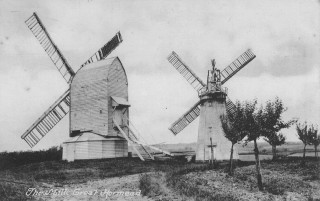 Great Hormead's two windmills, c.1910 | Hertfordshire Archives and Local Studies