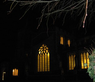 St Mary's Church welcoming visitors for tea and Carols
