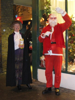 Collecting for the Isobel Hospice with the help of Santa