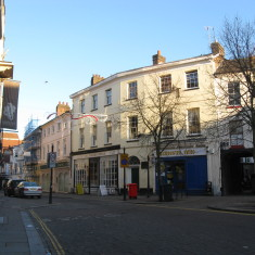 The west end of Fore Street as it is today (2010); the war memorial is to the right (not shown). | Fiona MacDonald