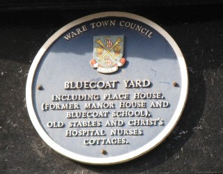 A close up of the blue plaque at Bluecoat Yard (click on the thumbnail to view full size picture) | Fiona MacDonald