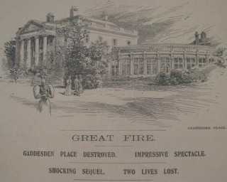 Gaddesden Place before the fire of 1905 | Hertfordshire Archives & Local Studies