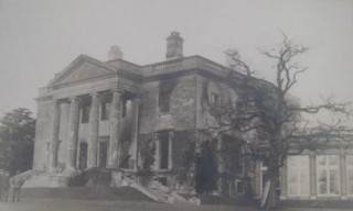 Gaddesden Place after the fire of 1905 | Hertfordshire Archives & Local Studies
