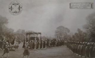 St Albans Pageant, 1907 - the Funeral Cortege of Queen Eleanor, 1290 | COPYRIGHT T.B.C.