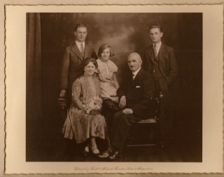 Harry Carrington with his wife and three children, Walter, Beyrl and Harry, known as Bob, my grandfather