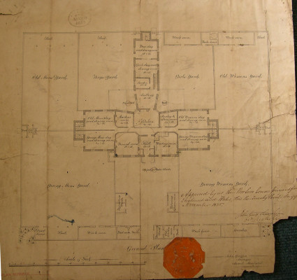 Plan of Barnet Union workhouse held at the Barnet Local History Library | Borough of Barnet Local History and Archives