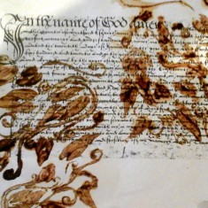 Stencil over John Radcliffe's Will