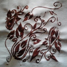 Stencil with Madder Paste