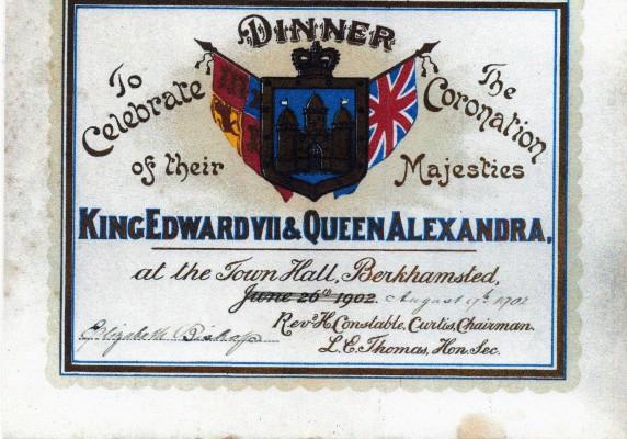 Invitation to Coronation dinner 1902