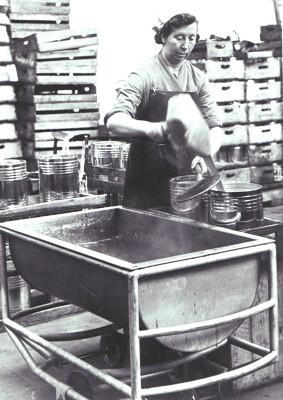 Flo Dayton at work c.1950