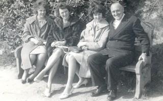 Jane, Mum, me and Grandad, Easter 1961