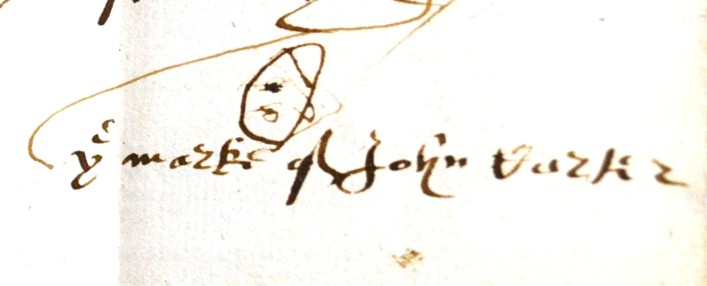 John Carter, a butcher by trade from Grandborough in Buckinghamshire, his Will is dated 1602.     ref. 43AW2 | Hertfordshire Archives and Local Studies