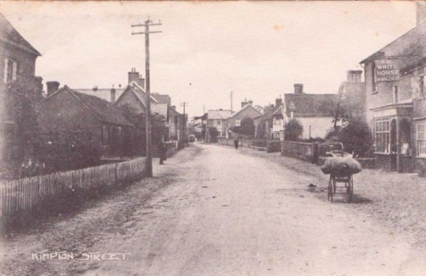 A view of the main street in 1918