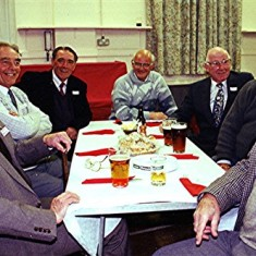 Left to right: Ralph Reading, John and Peter Archer, Derek Woods, Roy and Alan French, John Tingey | Geoff Webb
