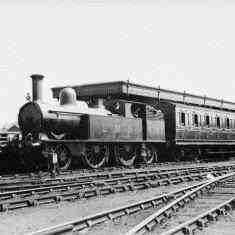 LMS - London, Midland and Scottish Railway - train at Abbey station. | St Albans Museums Service