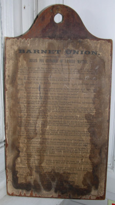 Barnet Union workhouse labour master's rules | Barnet Museum, Chipping Barnet