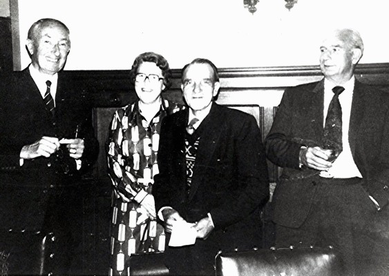 Left to right: George Roberts (chairman), Kath Brewer, Jasper Webb, Jack Brewer (Kath's husband). | Geoff Webb