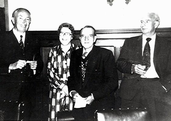 Left to right: George Roberts (chairman), Kath Brewer, Jasper Webb, Jack Brewer (Kath's husband). | Geoff Webb