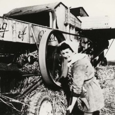 Land Girl at Hatfield Hyde; Marjorie Hyde. 1947-1949. | Local Studies Image Collection