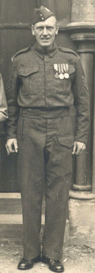 Olive's father in his uniform