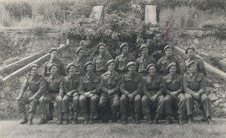 The RAP Rifle Brigade. Leslie Couzens is front row, 4th from left