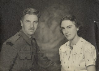 Leslie pictured with his wife Olive to whom he tried to express his emotions