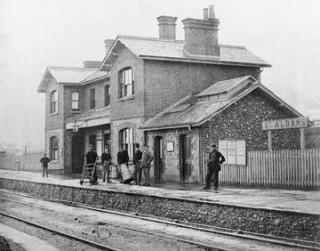 London Road railway station c1867