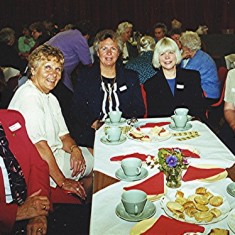 Left to right: Mary Luck, Iris and Jean Reading, Joan Ostler, Lily Orchard. | Geoff Webb