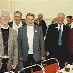 Left to right: Herbie Stevens, Fred Luck, Cyril Field, Derek Elsom, Roy Woods. | Geoff Webb