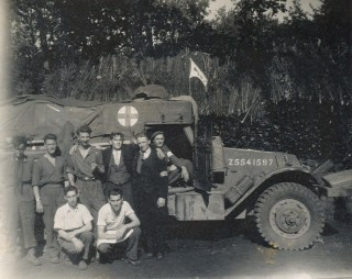 The chaps of the Rifle Brigade with their truck