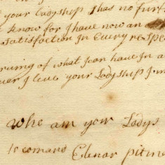 A letter from Elenar Pitman to Lady Cowper telling her she has another (better) job offer, 1713:
