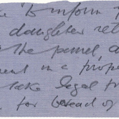 The response letter from the Lee's solicitor to Mrs Andrews. | Hertfordshire Archives and Local Studies, Ref: D/ECh B131