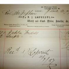 Invoice for Jubilee medals | Hertfordshire Archives & Local Studies