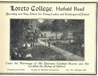 An advert for Loreto in the 1931 St Albans trade directory