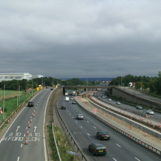 M25, looking east from the aqueduct over the Lea Valley | Nicholas Blatchley