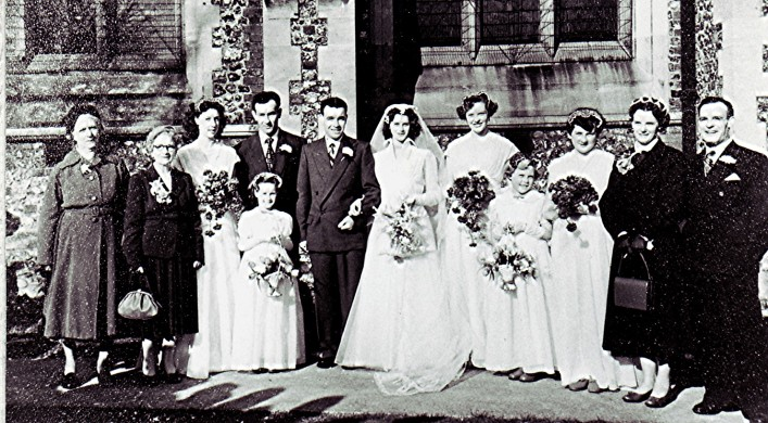 The marriage of Brian and Margaret, 1955 | Geoff Webb