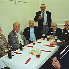 Left to right: Colin Alexander, Alf Day, Lamas Cook, Don Males, Richard Robertson, Bob Crawley, Les Smith and Bill Tibbs | Geoff Webb