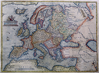 Europe depicted by Antwerp cartographer Abraham Ortelius in 1595 | Wikipedia
