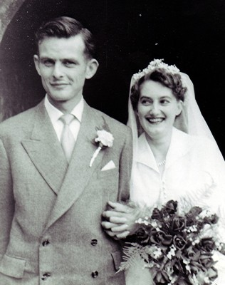 The marriage of Graham Mathers to Brenda Ventham   Geoff Webb