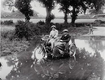 May and Bert Walker braving the River Ver | Geoff Webb