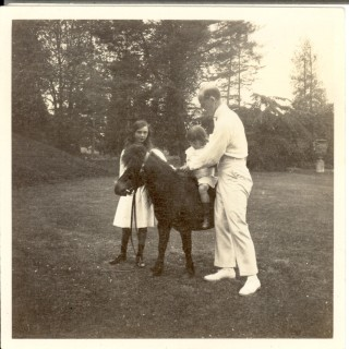 Michael with Tata and George | Knebworth House Archives
