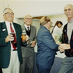 Left to right: Pat O'Connor, Ken Miles, Les Smith, Jack George, David Day, Brian Palmer. | Geoff Webb