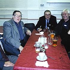Left to right: Tony Dickinson, Mick Miles, John Saunders, Alan and David Paynter.   Geoff Webb