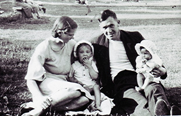Photo taken when Bill and Joan Mimer with their children. The photo was taken while Dad was home on leave in 1941.   Geoff Webb