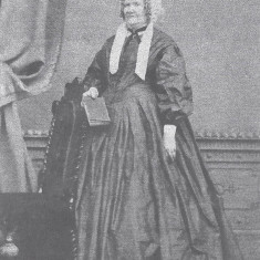 Mrs Clary, the housekeeper at Potterells, North Mymms, c.1860. She appears on the 1861 census as