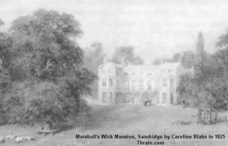 The original Marshals Wick House, Owned by T. P. Marten J P