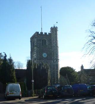 St Mary's Hadley with its cresset | Jennifer Ayto
